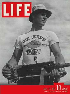 Life Magazine Copyright 1942 Air Corps Gunnery School - Mad Men Art: The 1891-1970 Vintage Advertisement Art Collection