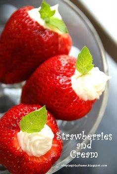 cream cheese filled strawberries-YUMMY