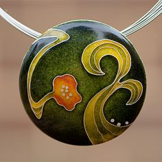 cloisonné pendant by EVERY.SEVEN - I have to learn how to do this ancient and amazing technique!