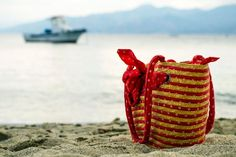 Sea and Beach Bag on Sand