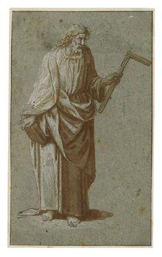 Der Apostel Thomas in ganzer Figur by Domenico Brusasorci   Blouin Art Sales Index