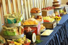This is one styled farm fresh party table. Farmer Birthday Party, Rodeo Birthday, 10th Birthday Parties, Birthday Ideas, Baby Birthday, Birthday Decorations, Farm Party, Party Entertainment, Appetizers For Party