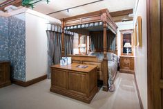 This bedroom suite was hand crafted in the north of England. The four poster bed would make an excellent edition to any home.
