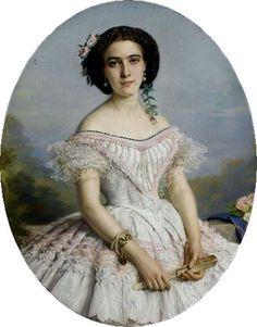 Young Princess Charlotte of Belgium, 1850