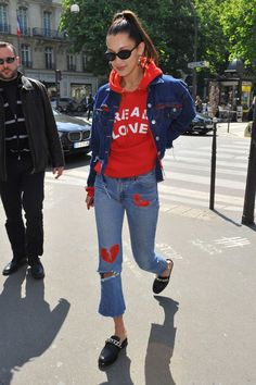 Love Bella Hadid's Paris street style!