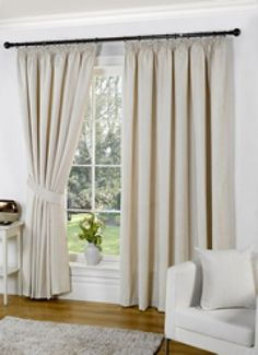 Image for Heather, Cream - Ready Made Curtains
