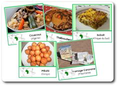 cuisine-afrique-nomenclature Couscous, Oatmeal, Beef, Food, Continents, Montessori, Childhood, Kids, World Languages