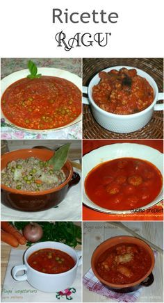 Ricette ragù Salsa Italiana, Pesto, Gnocchi, Cool Kitchens, Italian Recipes, Food And Drink, Healthy, Ethnic Recipes, Gym
