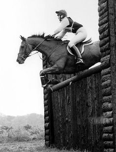 I swear this is the same jump that my mum jumped...yoh. pretty cool! This is the era where eventing was true......not any of these current modernised, show-jumping type, technical courses. #BackToGallops #HugeFences #Bravery
