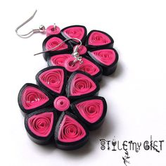 Full Bloom  Paper Quilled Earrings by StyleMyGift on Etsy, $10.00                                                                                                                                                     More