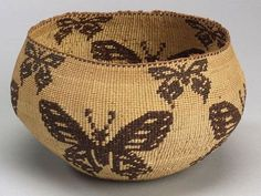 Atsugewi (aka Hat Creek, NE California), Basket, plant fibers, c. 1900.