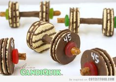 Health and fitness Barbell Cookies