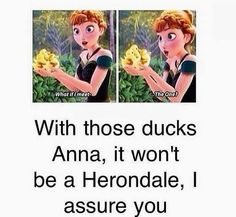 Anna of Arendelle and Ducks