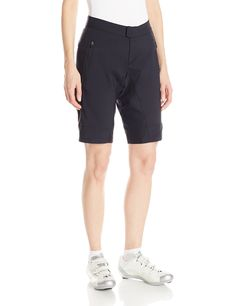 Pearl Izumi - Ride Women's Summit Shorts, Black, Medium. Spring/summer 2016. Water resistant DWR treatment; Stretch main body fabric for pedaling comfort; Snap front closure with zip fly. Snag free Internal waist adjustment; Two hand pockets and 11 inch.