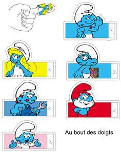 SCHTROUMPFS fete bleue - 1 et 2 et 3 DOUDOUS * PATRONS* PATTERNS * GABARITS FETE A THEMES POUR ENFANTS
