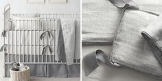 Washed Organic Linen Printed Nursery Bedding Collection | Restoration Hardware Baby & Child
