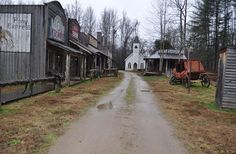 A view of Main Street in Whisky River, the replica Western town that is the centerpiece of Dale Earnhardt Jr.'s sprawling property. Whisky River features a barber shop, a bank, a post office, a general store, a sheriff's office and a church with a 75-foot steeple.