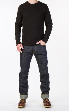 CULTIZM - Carefully selected menswear since Shop over 100 brands in our online shop. Estilo Denim, Estilo Rock, Best Smart Casual Outfits, Cool Outfits, Denim Fashion, Fashion Outfits, Raw Denim, Business Casual Outfits, Denim Outfit