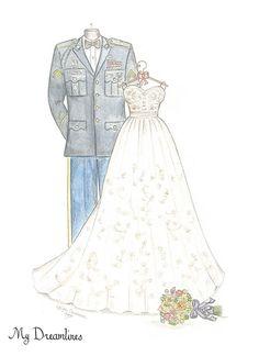 Personal Wedding Dress Sketch