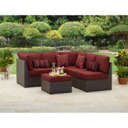 Customer Reviews: Better Homes and Gardens Rush Valley 3-Piece Outdoor Sectional Sofa Set, Seats 5 - Walmart.com
