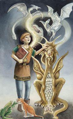 page of pentacles - dragon tarot