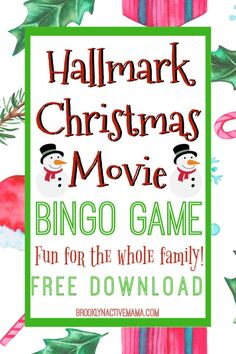 We all love Hallmark Christmas Movies let's make our binge watching a bit more fun with this Hallmark Christmas Movie Bingo game! Enjoy your favorite Christmas movies with family by playing this fun game! Romantic Christmas Movies, Kids Christmas Movies, Free Christmas Gifts, Hallmark Christmas Movies, Magical Christmas, Christmas Fun, Christmas Essay, Hallmark Holidays, Swedish Christmas