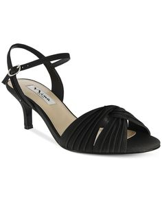 Nina Camille Two-Piece Mid-Heel Evening Sandals