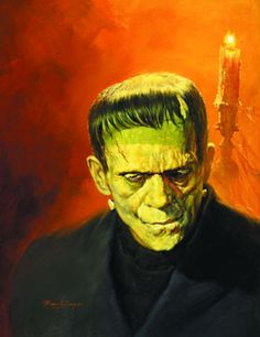 Frankenstein's monster by Basil Gogos