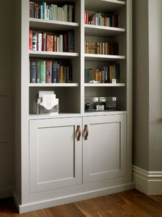 Study with Bookcases and Wall Paneling - traditional - Home Office - London - Brayer Design