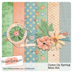 Come On Spring mini kit freebie from Nibbles Skribbles