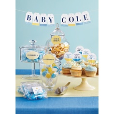 Celebrate Baby with a Shower or a Sprinkle - DIY Just personalize Avery Printable Tags with letters to spell out the baby's name or a loving message to the mom-to-be. String printed tags onto colorful baker's twine, and secure tags in place with tape. Baby Bash, Baby Party, I Party, Party Gifts, Party Time, Party Ideas, Diy Ideas, Beautiful Baby Shower, Baby Shower Fun