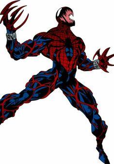The Scarlet Spider (Ben Reilly) Symbiote Spiderman Drawing, Spiderman Art, Spiderman Symbiote, Univers Marvel, Marvel Art, Marvel Heroes, Venom Comics, D Mark, Spider Carnage
