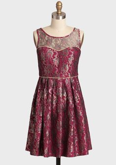 This Side Of Paradise Brocade Dress - Ruche