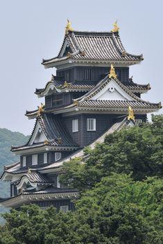 architecture Pause jardin et château à Okayama - Architecture Du Japon, Asian Architecture, Architecture Sketchbook, Concept Architecture, Sustainable Architecture, Okayama, Japanese Nature, Japanese Landscape, Japanese Castle