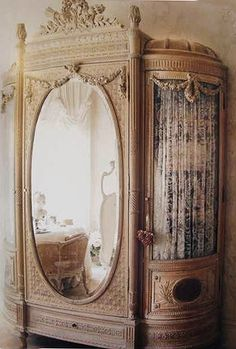Victorian Furniture Armoire - Wardrobe