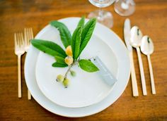 Lemon Branch Garnish. Romantic Natural Elopement
