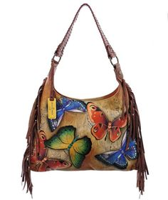 fd89ffe81202 Anuschka-Hand-Painted-Leather-Fringe-Hobo-Earth-Song Hand