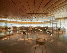 Musée Atelier Audemars Piguet is a Contemporary Celebration of Time Audemars Piguet, Astronomical Watch, German Architecture, Contemporary Architecture, Glass Pavilion, Roof Shapes, Interactive Display, Spiral Shape, Glass Museum