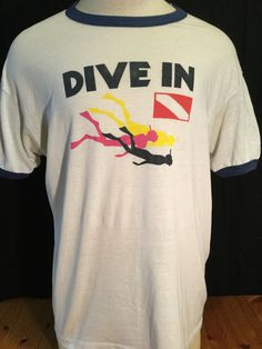 Vintage 1980's Tourist T-Shirt Surf Beach 50/50 Ringer Scuba by 413productions on Etsy