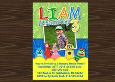 Yo Gabba Gabba Birthday Party Invitation by KraftyKansas on Etsy, $10.00