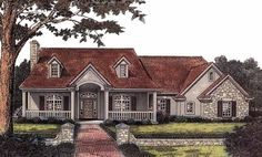 Eplans Country House Plan - Warm and Inviting - 2172 Square Feet and 3 Bedrooms from Eplans - House Plan Code HWEPL05167
