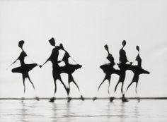 Hannes Kilian Ballet scene , 1968 Vintage ferrotyped gelatin silver print