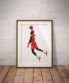 Michael Jordan Vector Illustration Print