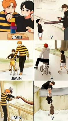 Find images and videos about kpop, bts and funny on We Heart It - the app to get lost in what you love. Bts Jungkook, Bts Vmin, Jungkook Fanart, K Pop, Vkook Memes, Les Bts, Bts Memes Hilarious, Bts Chibi, Bts Lockscreen