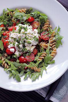 Mozzarella, Tomatoes and Pasta by Salad Pride, via Flickr