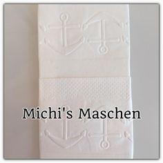 Gastgeschenke - Taschentücher Freudentränen maritim geprägt Anker - ein Designerstück von Michis-Maschen bei DaWanda