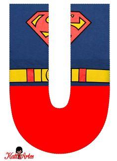 EUGENIA - KATIA ARTES - BLOG DE LETRAS PERSONALIZADAS E ALGUMAS COISINHAS: Alfabeto SUPER HOMEM 1