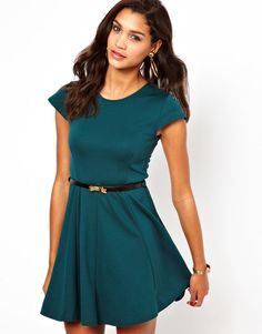 Club L Fit And Flare Dress With Belt
