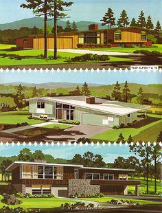 Beautiful Mid Century Modern home renderings