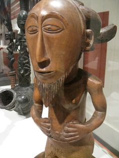 Pensive bearded man--African sculpture in the Brooklyn Museum of art